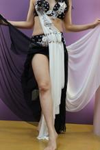 エジプト製 ベリーダンス衣装 黒&白