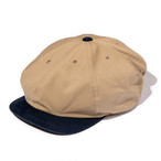 "Just Right ""Sports-Newsboy Cap Cotton Twill"" Beige x Navy"