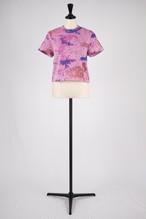 【kota gushiken】Knitted tie dyeish tshirts - purple