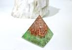 【受験のお守り】ミニピラミッド型オルゴナイト フローライト
