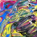 絵画 絵 ピクチャー 縁起画 モダン シェアハウス アートパネル アート art 14cm×14cm 一人暮らし 送料無料 インテリア 雑貨 壁掛け 置物 おしゃれ 現代アート 抽象画 : ごま 作品 : s03