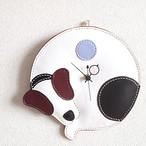 掛け時計(黒×ブルー)