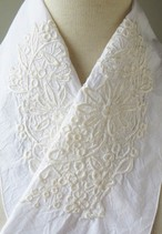 刺繍半衿・グラマラスレース・白×白