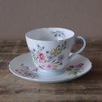 アンティーク 食器 SHELLEY シェリー ワイルドフラワーズ 花柄 コーヒーカップ ソーサー #200323-1 イギリス製 ヴィンテージ Wild Flowers ボーンチャイナ
