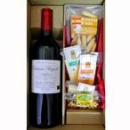 グルメギフト フランス ボルドー シャトー・プピーユ  赤ワイン&チーズ ・ピコス5種セット
