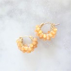 14kgf*Orange Aventurine pavé pierced earring / earring