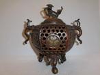 香炉 multi-metal incense burner (brown)(No22)