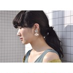tiravisù【 melon cream button _ pearl _ earring 】vintage handmade イヤリング japan