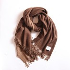 THE INOUE BROTHERS/Double Faced Brushed Large Stole/Brown