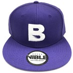 Nible Flat Visor Cap / Purple×White