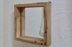 ★ ボックスミラー  木製枠 壁掛け ウォールミラー ★