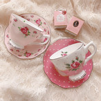 Rose cup&saucer(ドットピンク)