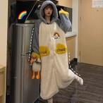 【パジャマ】大流行韓国系キュート長袖スウィートスエードありパジャマ25074571