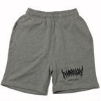 MARRION APPAREL LOGO SHORTS (Gray×Black)