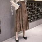 【ボトムス】プリントファッションAラインすね丈スカート