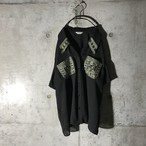 [used] design parted shirt