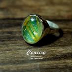 ルチルクォーツとコスモクロア輝石のリング