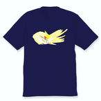 羽づくろうオカメインコTシャツ(パイド)ネイビー