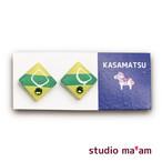 ■KASAMATSU-04 ピアス。しかく。〜イヤリング変更可〜