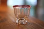 【カンナカガラス工房◆村松学】◆◆◆酒器(台付)ぐい呑み<口巻赤>◆◆