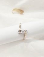 (サージカルステンレス)ローリングキュービックリング リング 指輪  韓国ファッション