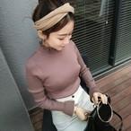 long sleeve fril knit 3252
