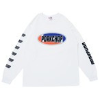 2nd Oval L/S TEE/WHITE