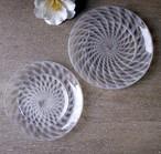 glass atelierえむに /うろこ雲のリム皿 7寸皿
