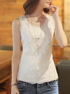 【tops】Fashion design lace short vest