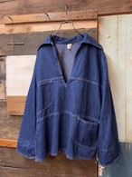 70's womens denim pullover shirt