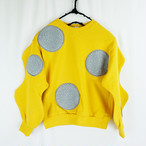 UNEVEN BOA DOTS SWEATSHIRT / WOMEN