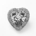 Italy mosaic heart brooch[b-178]