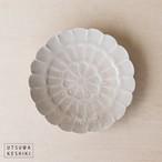 [前田 麻美]菊 4寸皿(灰琥珀釉)
