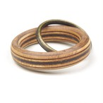 horisontal stripe wooden ring