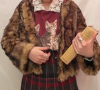 fur coat(brown mix)