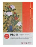 和綴じノート A6(牡丹ニ孔雀図-赤)