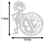 BRAINCHILDロゴステッカー(Bタイプ)
