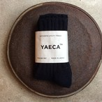 YAECA / ヤエカ COTTON/SILK SOCKS D.NAVY