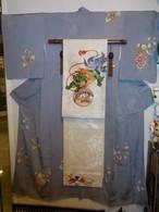 縮緬手描き友禅訪問着 silk  Kimono