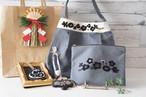 【福袋】刺繍のショルダーバッグ(グレー・黒)のセット♪