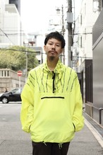 90's Fluorescent color nylon anorak