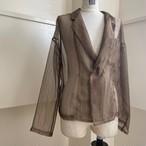 【RehersalL】mesh short coat (d.brown)/【リハーズオール】メッシュ ショートコート(d.brown)