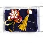 【Izuchi】つまみ細工のまつり簪/簪