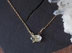 原石のハーキマーダイヤモンドのネックレス