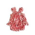 ベビー アロハツーピースドレス  / レッド