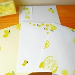 The letter set レモン