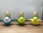 博多人形 鳥と翔ぶアマビエ様(セキセイインコ)