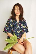 PETALプリント/Womensアロハシャツ