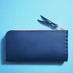 L字ファスナーの短め長財布 / ネイビー