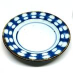 【砥部焼/中田窯】5寸リム皿(オモナミ紋)